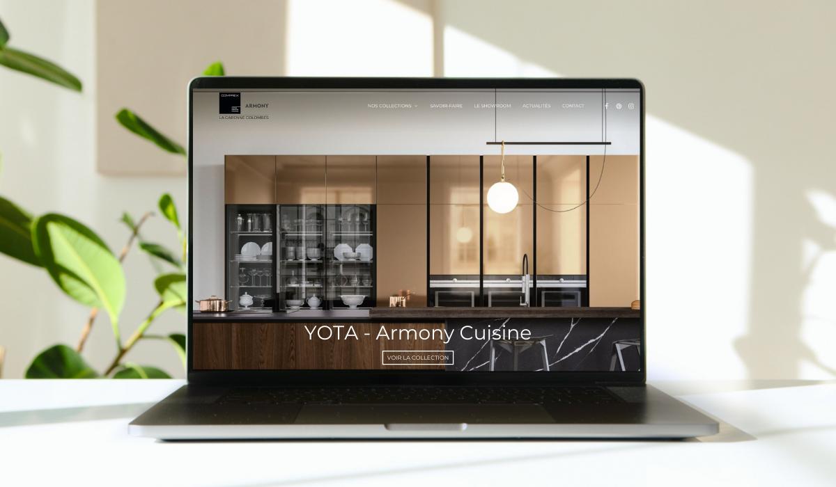Studio Tilo - Réalisation site internet Armony cuisine - La Garenne Colombes